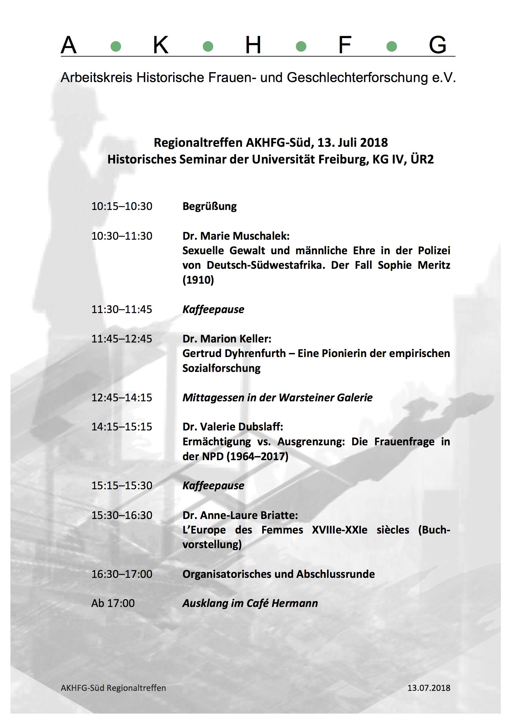 AKHFG Regionaltreffen